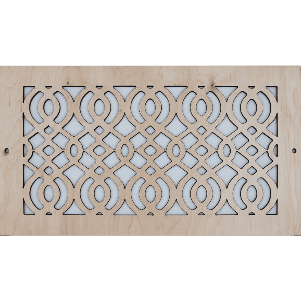 Arabic - Vent Cover - Unstained, Decorative Vent Cover, Vent Cover, Stellar Air, Custom Air Vent Cover, Charleston, SC