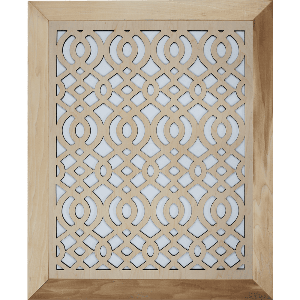 Arabic - Grille Cover - With Frame, Decorative Vent Cover, Vent Cover, Stellar Air, Custom Air Vent Cover, Charleston, SC