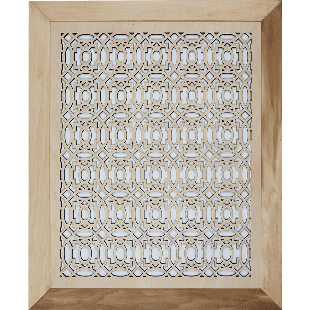 Moroccan - Grille Cover - With Frame, Wall Vent, Intake Air Grille, Stellar Air, Decorative Vent Covers, Charleston, SC